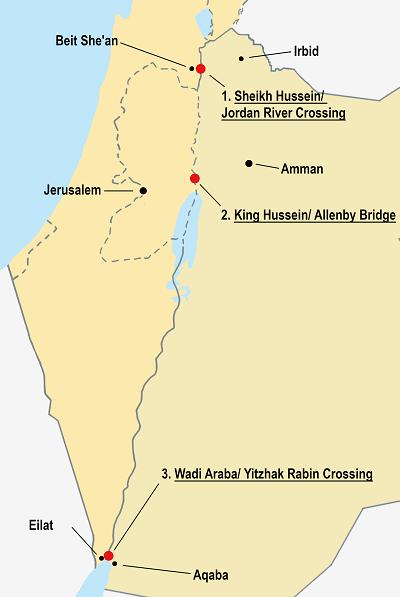 Crossing the Borders between Jordan & Israel/Palestine